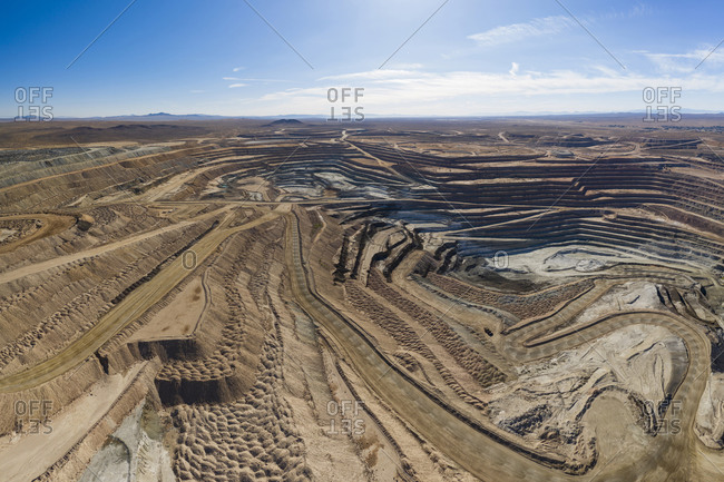 Boron mine in the California high desert aerial