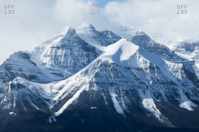 Mountain Peaks in Lake Louise Alberta
