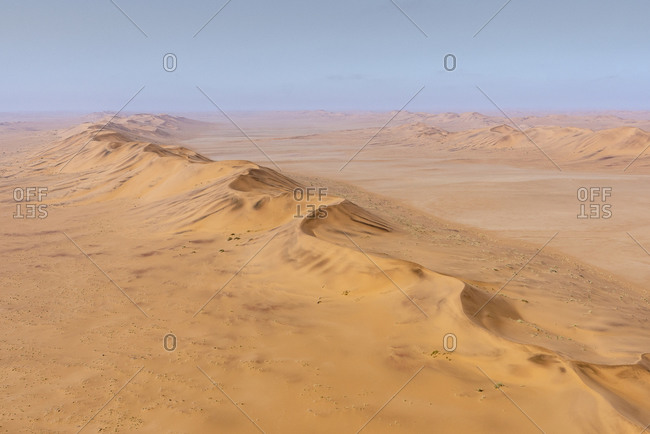 Aerial view of a dune in the Namibian desert
