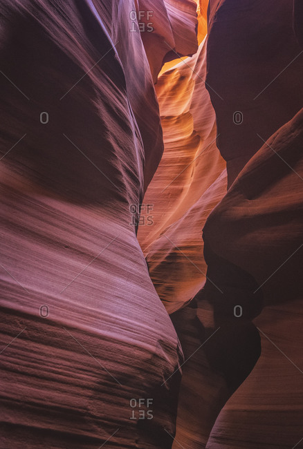 Inside of Antelope canyon, color and textures