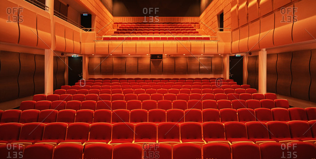 View of empty seats in concert hall