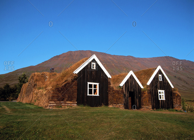 Ancient turf houses in Iceland