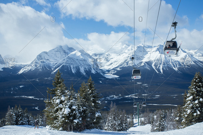 Lake Louise, AB, Canada - March 22, 2017: Lake Louise Gondola in Banff National Park Canada