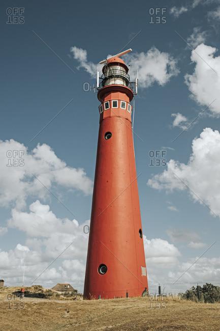 Netherlands- Schiermonnikoog- lighthouse against cloudy sky
