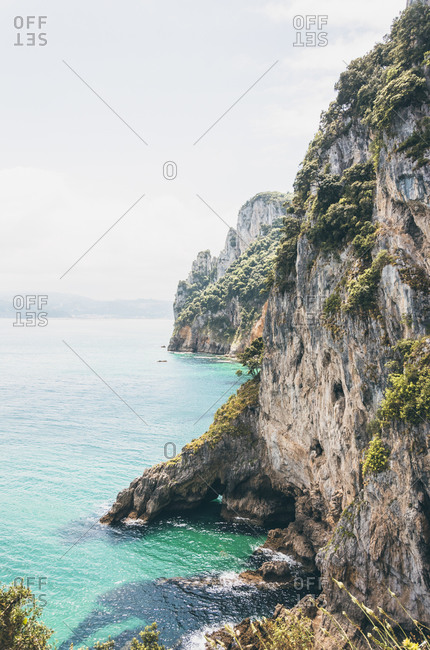 Spain- Canrabria- Cliffs at Faro del Caballo