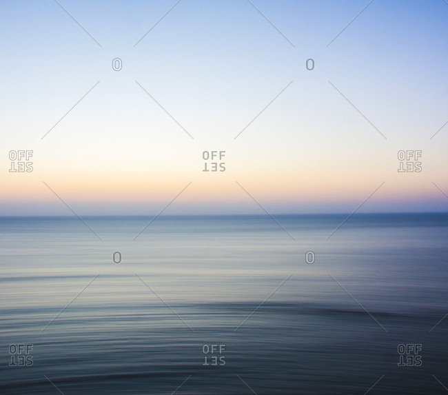 Portugal- Oeste- Alcobaca- Long exposure of Atlantic Ocean at dusk