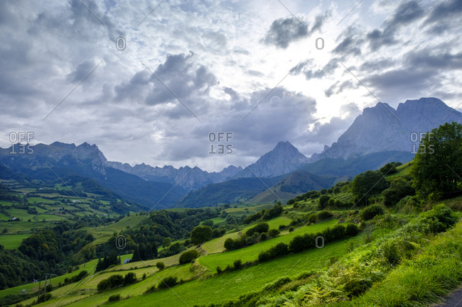 France- Pyrenees-Atlantiques- Lescun- Scenic view of clouds over Aspe Valley