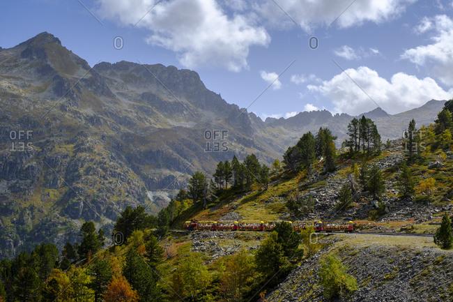 France- Pyrenees-Atlantiques- Laruns-Petit train dArtouste railway in Ossau Valley