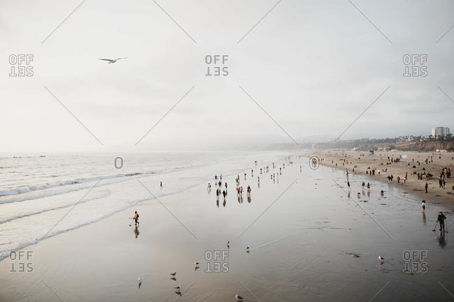View to Santa Monica Beach- Los Angeles- USA