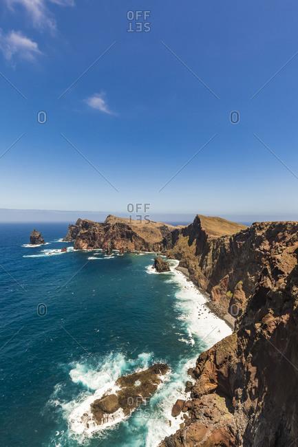 Portugal- Madeira- Clear sky over Ponta de Sao Lourenco headland