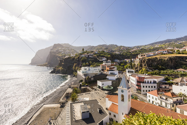 May 25, 2019: Portugal- Madeira- Camara de Lobos- Coastal town in summer