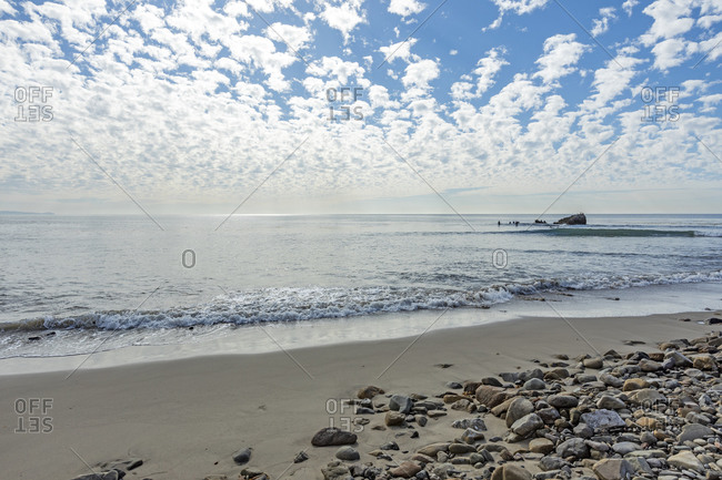 Leo Carillo State Beach on a cloudy day
