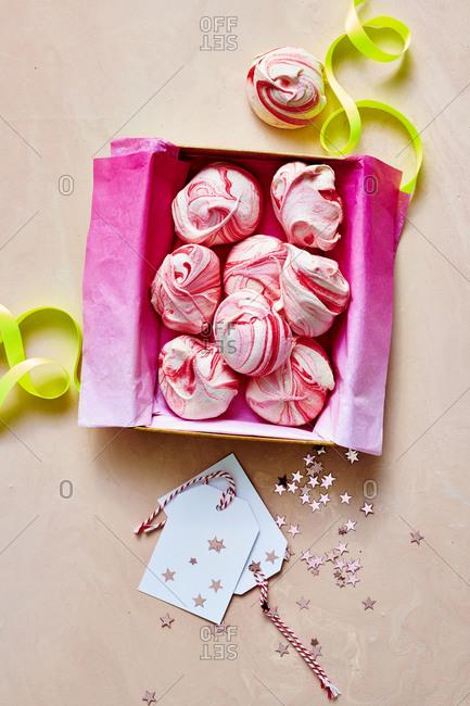 Peppermint Meringue Cloud Cookies in Box