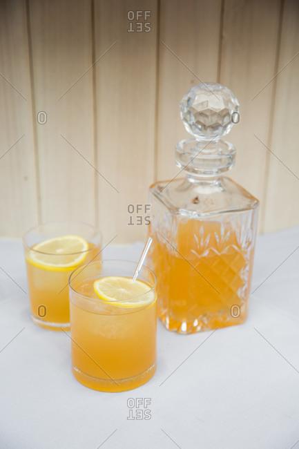 Orange citrus cocktail ready to drink