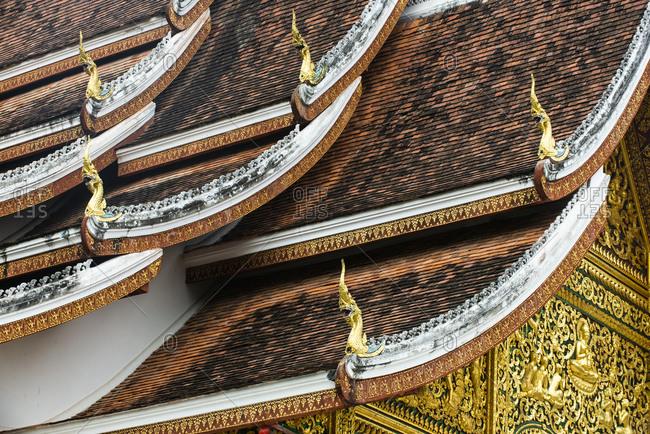Detail of the Royal Palace's roof in Luang Prabang, Laos