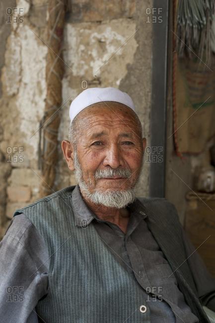 Afghanistan - June 11, 2011: Portrait of a senior man