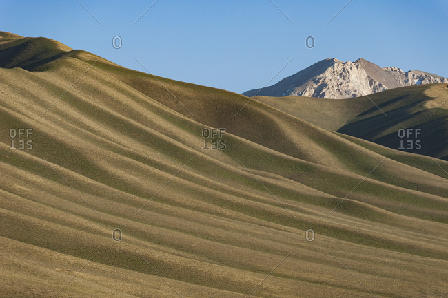 A remote valley in mountainous Bamiyan province below the Koh-i-Baba mountain range
