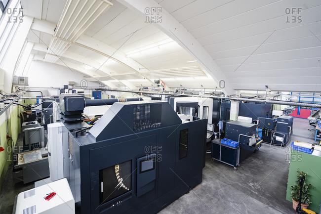 Germany- Bavaria- Munich- Production hall machinery
