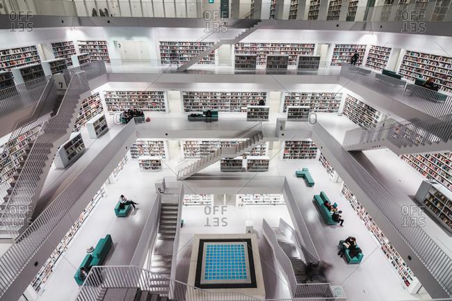 Stuttgart, BW, Germany - November 16, 2016: Stuttgart, Germany - Stuttgart Library (Stadtbiliothek Stuttgart