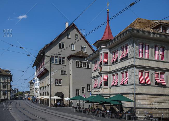 Lucerne, LU, Switzerland - August 28, 2018: street scene in Lucerne / Switzerland