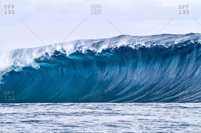 Heavy wave in Papeete Tahiti