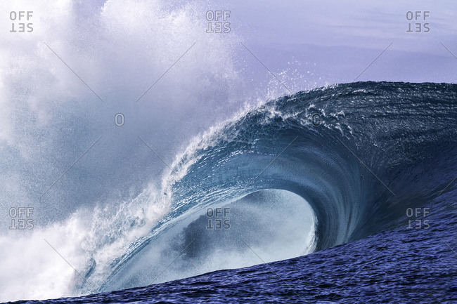 Perfect wave in Papeete Tahiti
