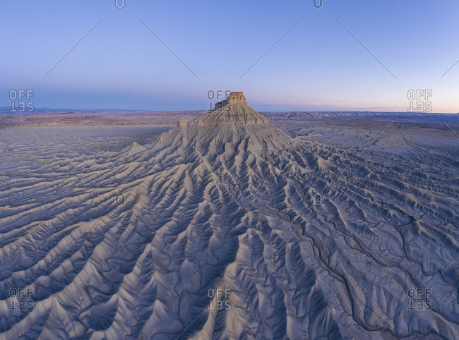 Erosion paints an abstract picture in the badlands of Utah backcountry