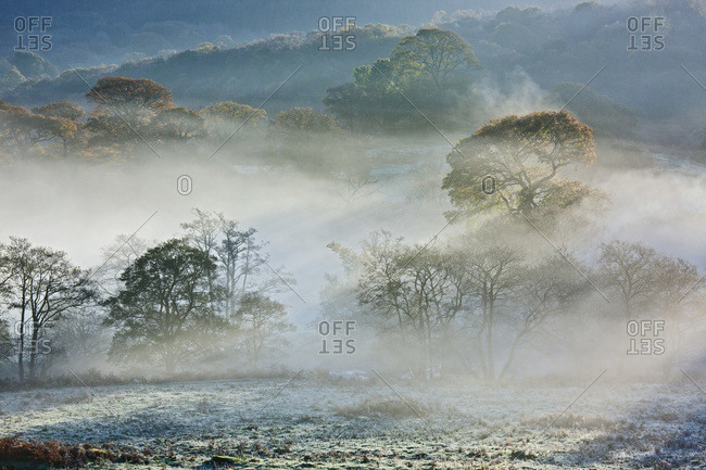 Morning mist in North Wales