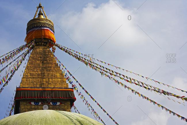 The famous Boudhanath stupa in Kathmandu