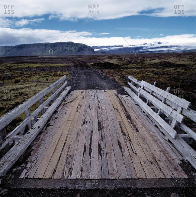 Simple bridge in the Icelandic highlands