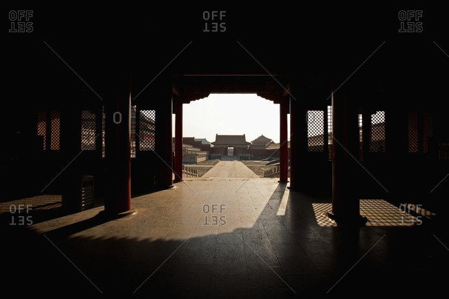 Gate at the ancient forbidden city in Beijing