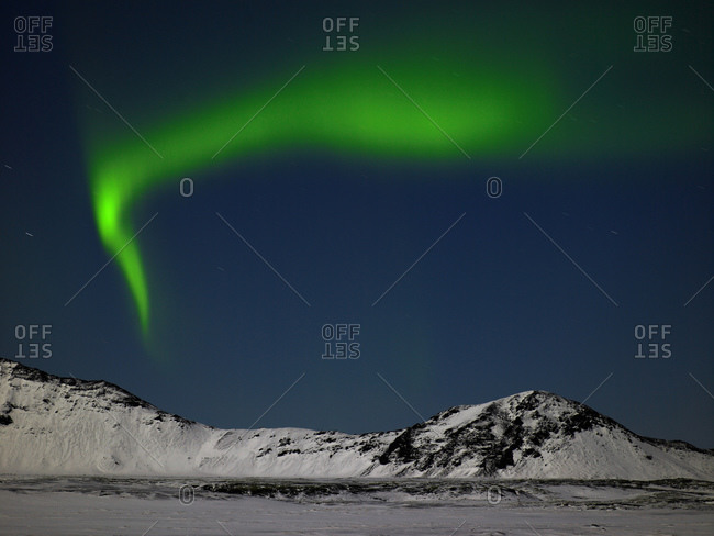 Northern lights on a clear night in Iceland