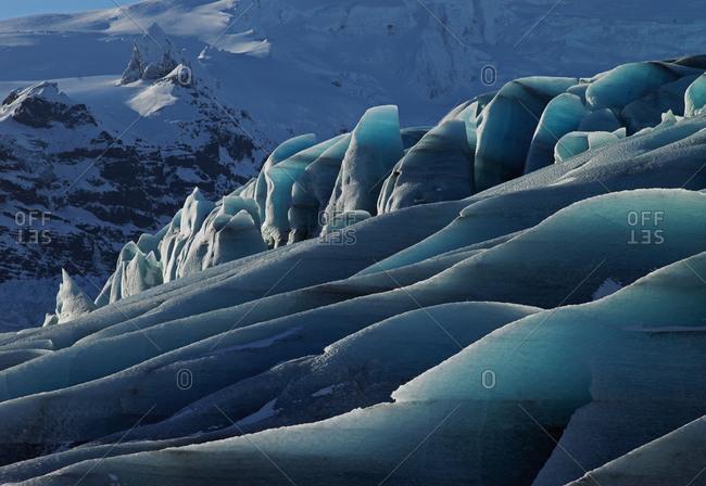 Detail of Fjallsjokull glacier at Vatnajokull national park