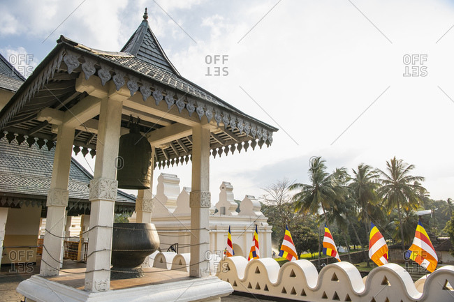 Bell at the shrine of the holy tooth relic in Kandy / Sri Lanka