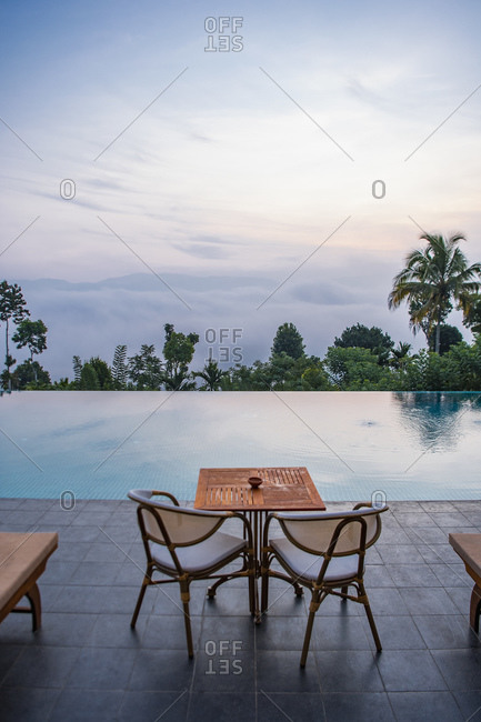Swimming pool in the highlands of Sri Lanka
