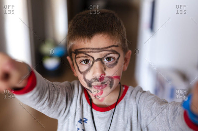 Child with the face painting