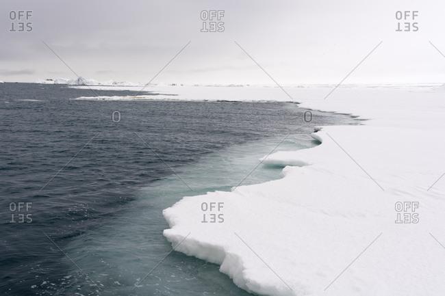 Sea ice on arctic ocean, Brasvellbreen. south of Austfonna ice cap, Nordaustlandet, Svalbard, Norway