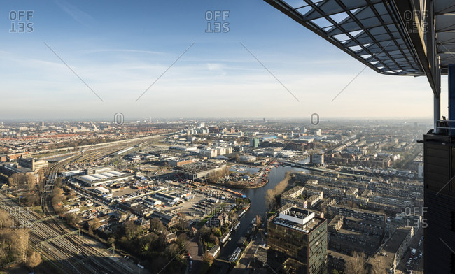 Panoramic view of city, The Hague, Zuid-Holland, Netherlands