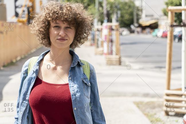 Female student exploring city, Berlin, Germany