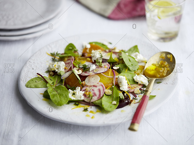 Beetroot salad dish on a plate