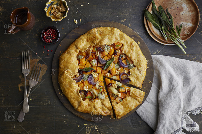 Overhead view of galette dish