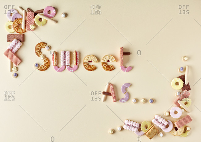 Words Sweet As made out of candies
