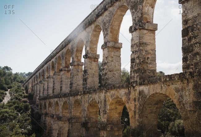Les Ferreres Aqueduct, The Devil�s Bridge, Tarragona, Catalonia, Spain