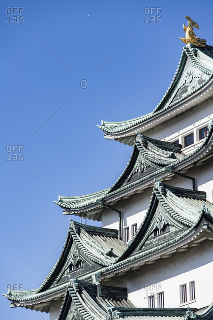 Detail of Nagoya castle, Nagoya, Aichi, Japan