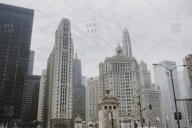 Chicago, Illinois - June 29,2029: Modern cityscape with contemporary architecture