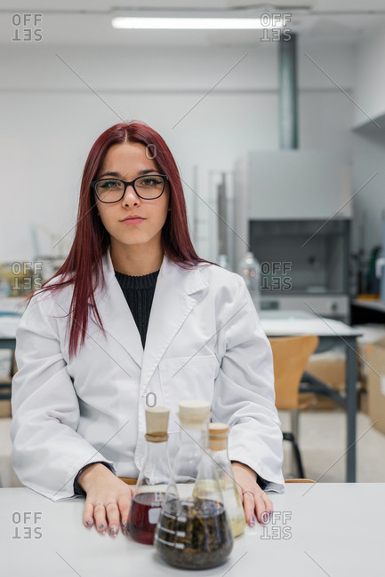 Young scientist in contemporary lab