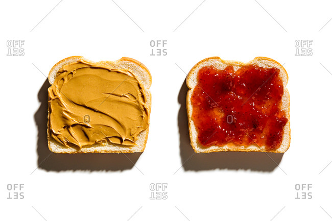 Preparation of peanut butter and jelly sandwich
