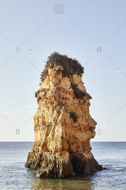 Rock formation off the coast of Portugal