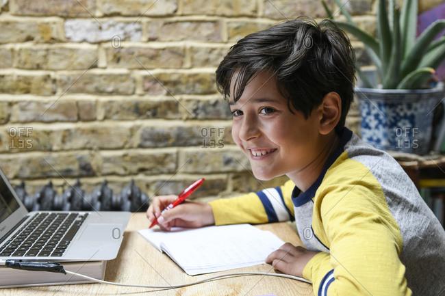 Child doing homework during the Coronavirus lockdown