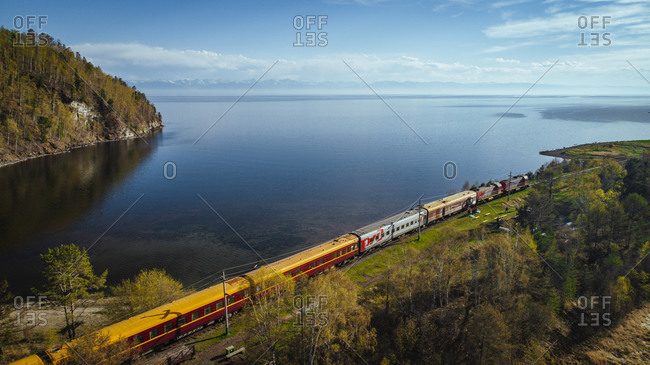 January 1, 1970: Trans-Siberian Railway at Lake Baikal, Siberia, Russia